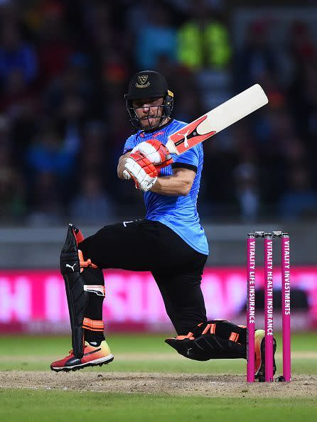 Laurie Evans batting in Vitality Blast Final