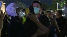 罷韓民眾搶看吳怡農爆衝突 口罩男遭警帶離