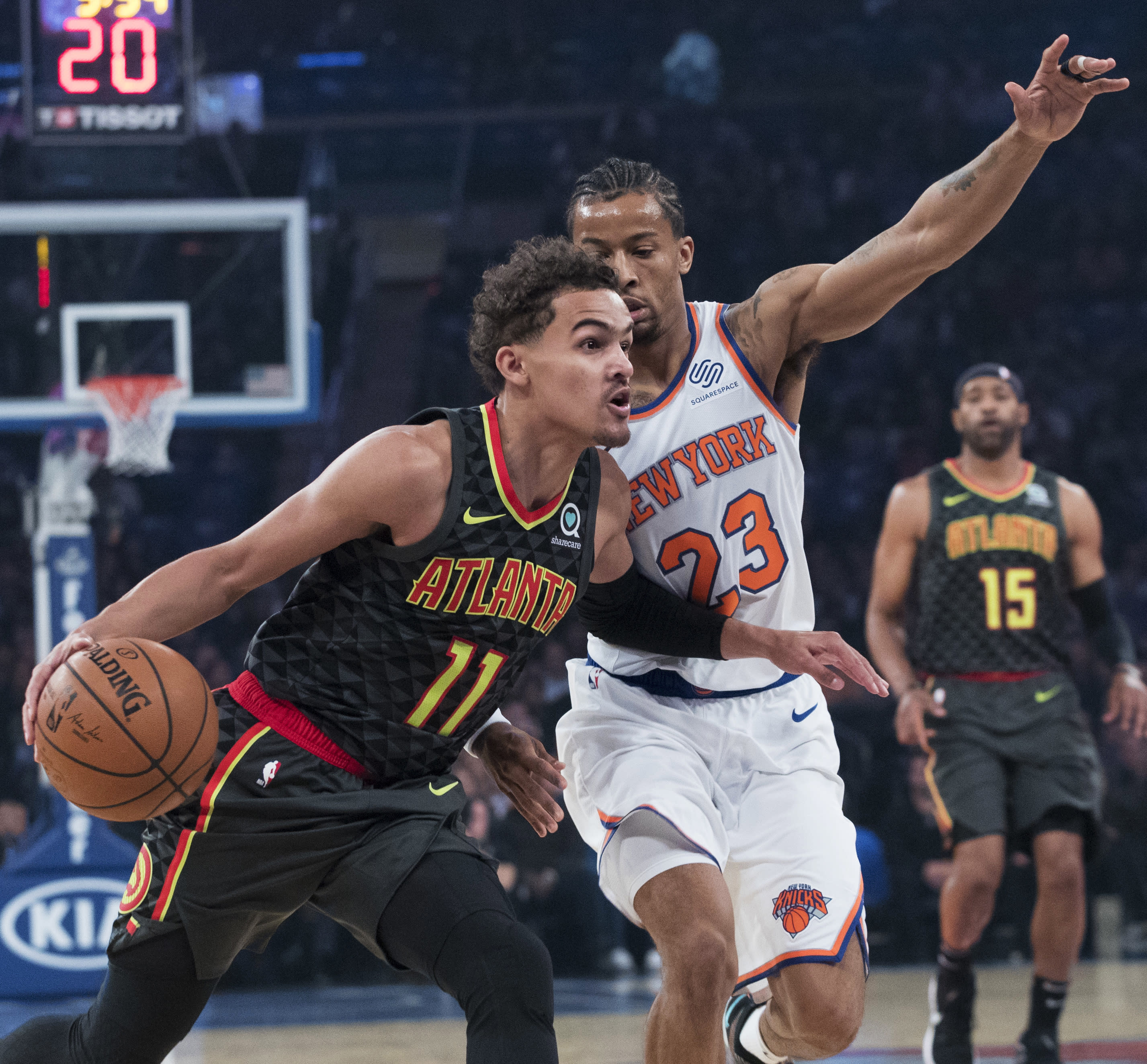 Rookie Trae Young Has Tough Debut Against Knicks