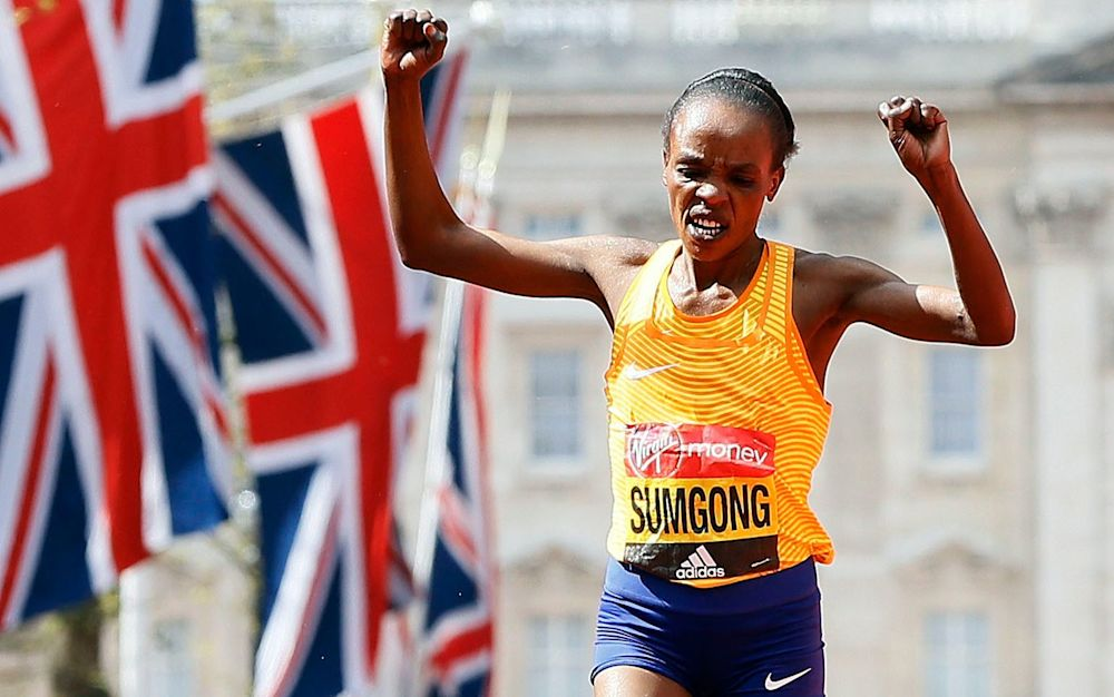 Jemima Sumgong is serving a doping ban so can't defend her London Marathon title  - AP