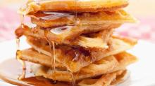Pumpkin Waffles with Apple Cider Maple Syrup Are the Answer to Your Brunch Problems
