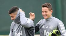 Rojo returns to Manchester United training after four-month lay-off