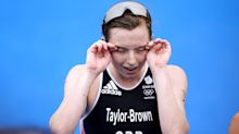 Georgia Taylor-Brown recovers from puncture to take triathlon silver