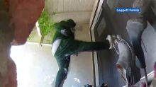 VIDEO: Would-be burglars kick in front door of Bay Area house, scared off by homeowner