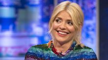 Holly Willoughby reveals slim figure in rainbow dress by London Fashion Week designer Ashish