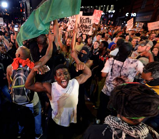 Charlotte protests mostly peaceful on third night