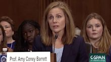 Amy Coney Barrett met with Trump at the White House as president weighs RBG replacement