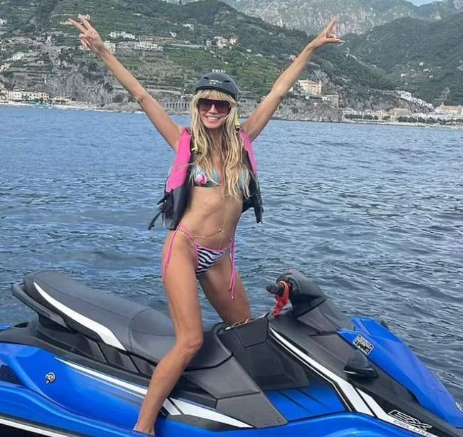 Heidi Klum wows in tiny bikini during romantic anniversary trip with husband Tom Kaulitz