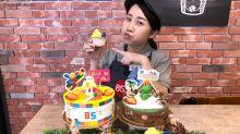 兒童節滿足小朋友嘴 兔兔三角龍變身蛋糕