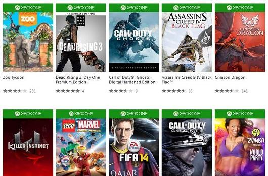 Xbox One online games store is live