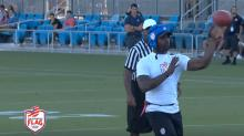 Michael Vick throws eight touchdowns ... in flag football, but still