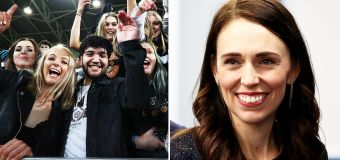 Ardern's perfect sledge as crowds return in NZ