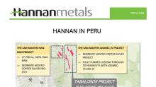Hannan Soil Sampling Defines Copper-Silver Mineralization Over 18 Kilometres at Tabalosos East