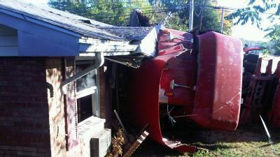 Semi Crashes Into Waynesville Apartment Complex