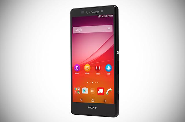 Sony's tweaked Xperia Z4v has a better screen and a wider waistline