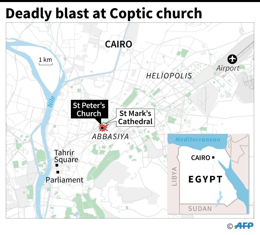 Deadly blast at Coptic church (AFP Photo/Jean Michel CORNU)