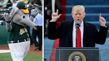 The Oakland A's take a jab at President Trump about crowd sizes