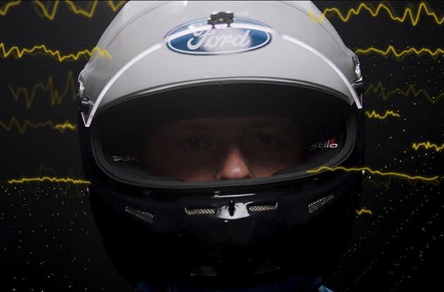 The unique racing helmet that monitors the brain