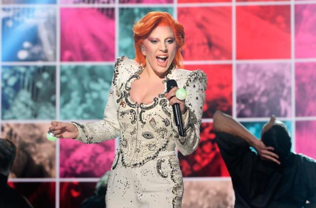 Inside Lady Gaga's high-tech Grammy performance