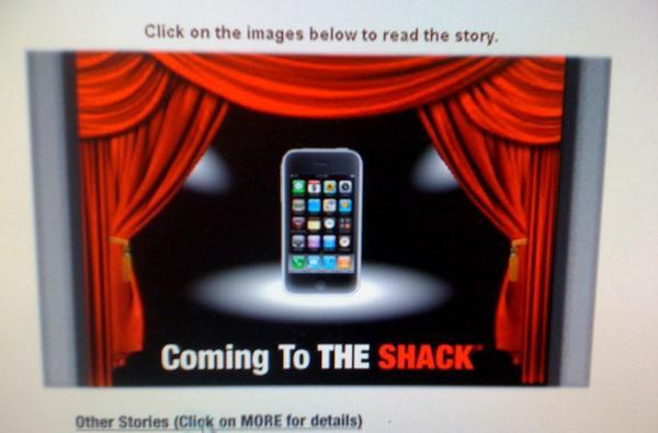 iPhone coming to The Shack: Dallas and NYC this month, nationwide in 2010?