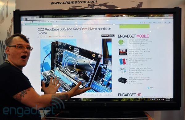 Champtron's 65-incher can recognize two-finger touch, make for a decently spacious second screen (video)