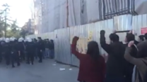Istanbul University Students Chant in Protest Against Police Raid