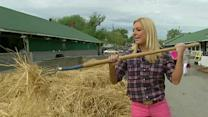 Anna Kooiman visits the stables of the Kentucky Derby