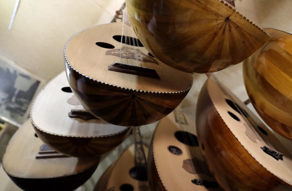 The oud is a stringed instrument also known as the oriental lute which is very popular across the Arab world (AFP Photo/JOSEPH EID)