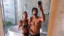 Agatha Moreira e Rodrigo Simas posam em resort de luxo nas Maldivas
