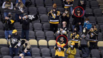 Penguins photoshop masks on several fans
