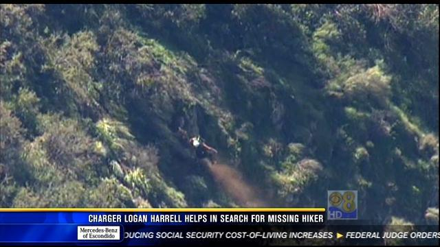 Charger player helps in search for missing hiker