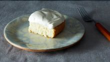 The Best White Cake with Maple Frosting