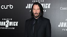 Keanu Reeves is unrecognisable in new Bill & Ted 3 photo