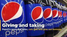 PepsiCo posts flat sales; cuts jobs and issues bonuses