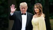 Melania Trump compared to Disney princess in £5000 yellow gown for Theresa May dinner