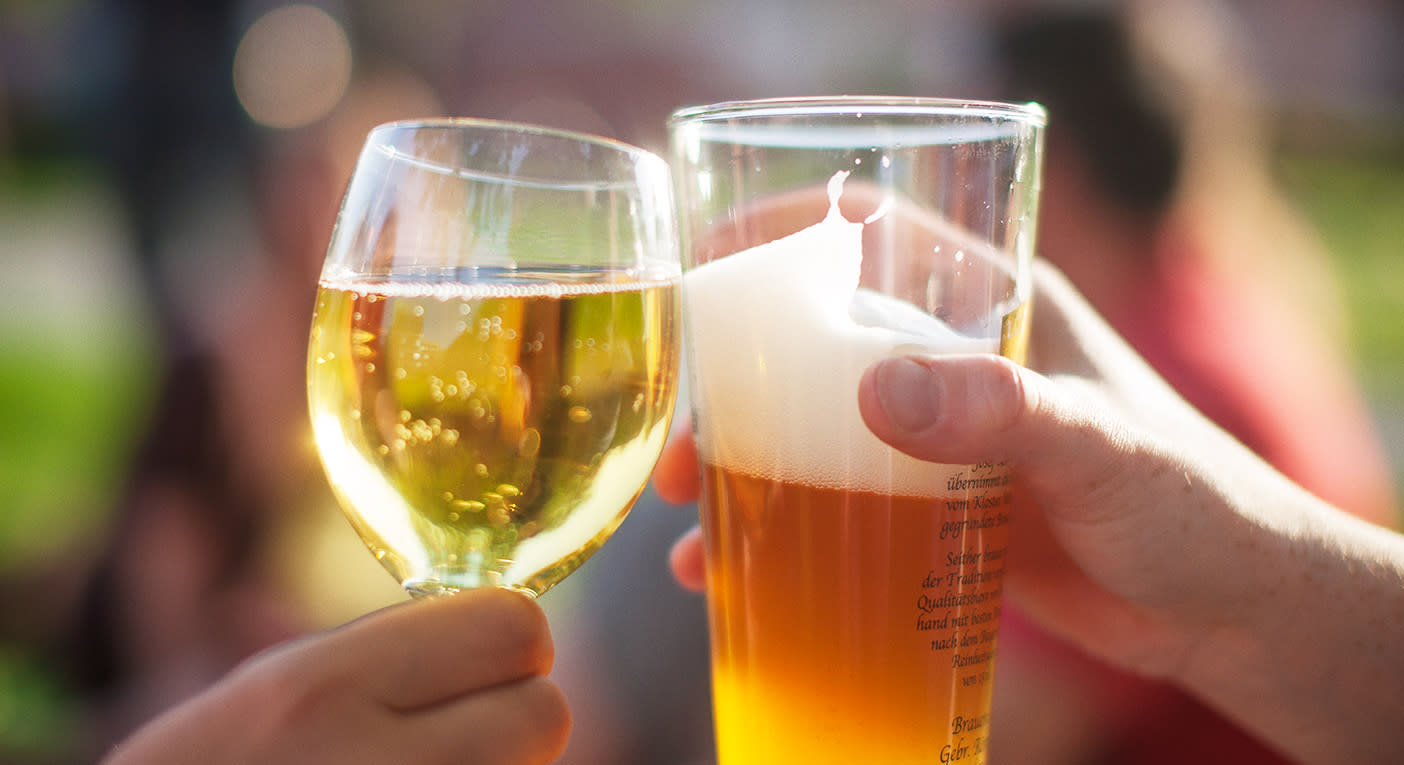 Scientists test 'beer before wine and you'll feel fine' hangover theory