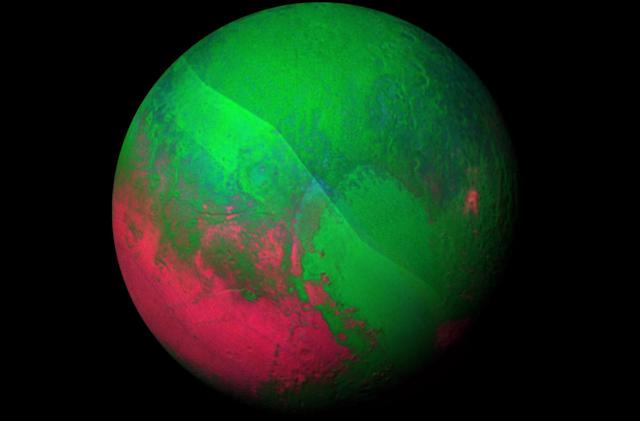 Pluto gets rainbow-hued in NASA's latest images