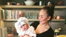 Chrissy Teigen shares the sweetest video of baby Luna trying savoury food for the first time