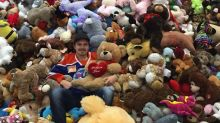 Teddy Bear Toss Weekend saw the fur fly at several rinks (Videos)