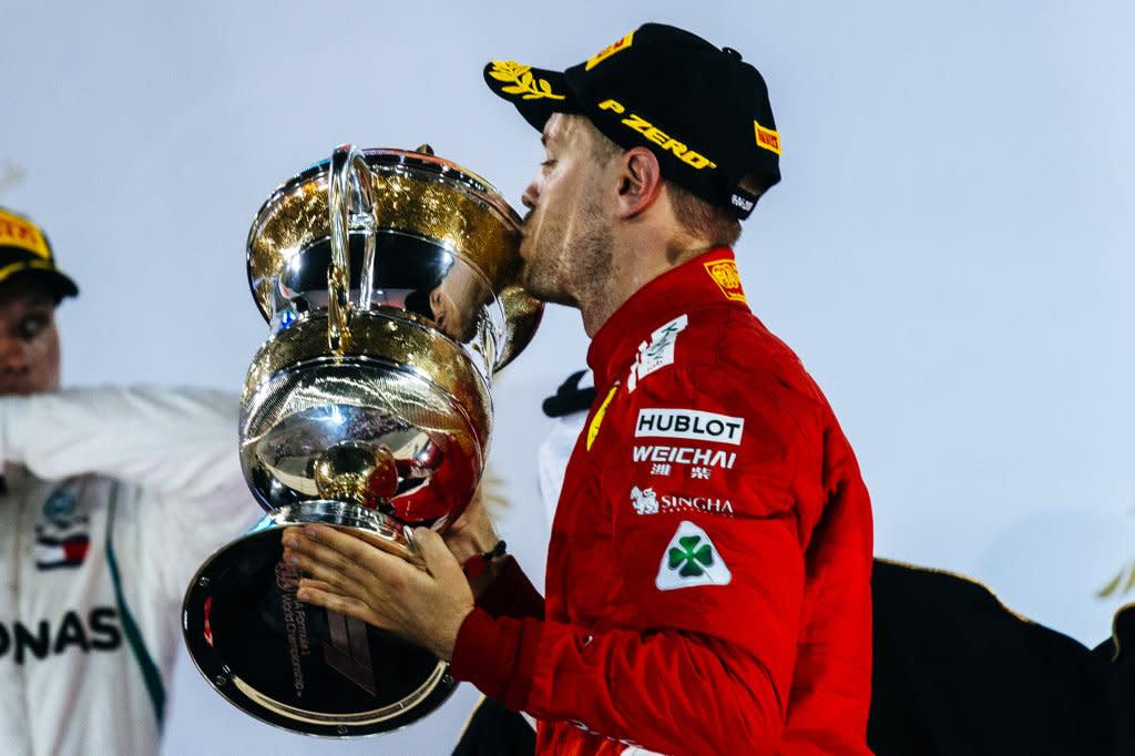 Sebastian Vettel表示本來以為自己在巴林站沒法贏得勝利