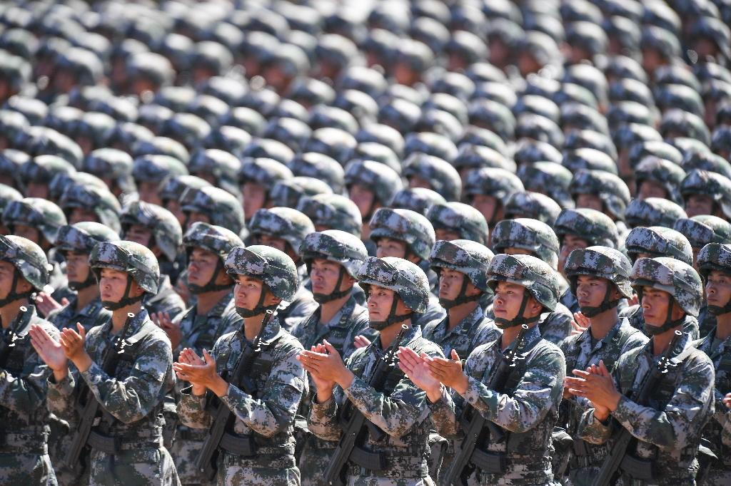 China's People's Liberation Army is believed to be developing land-based intermediate-range missiles capable of carrying nuclear payloads -- weapons that the US and Russia have agreed not to build under a bilateral treaty signed in the 1980s (AFP Photo/STR)