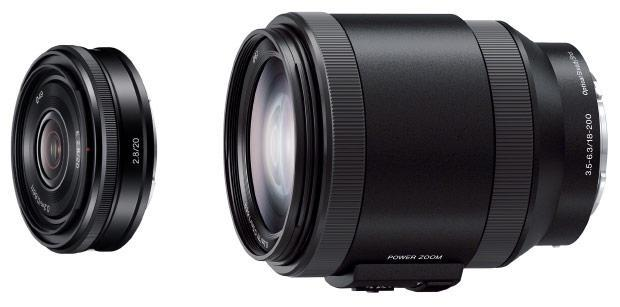 Sony grows E-mount lens collection with 20mm pancake, 18-200mm power zoom