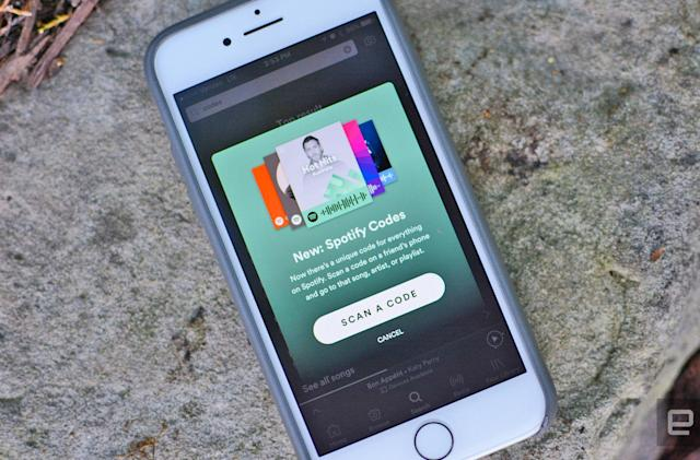 Scan Spotify Codes to play songs instantly (updated)