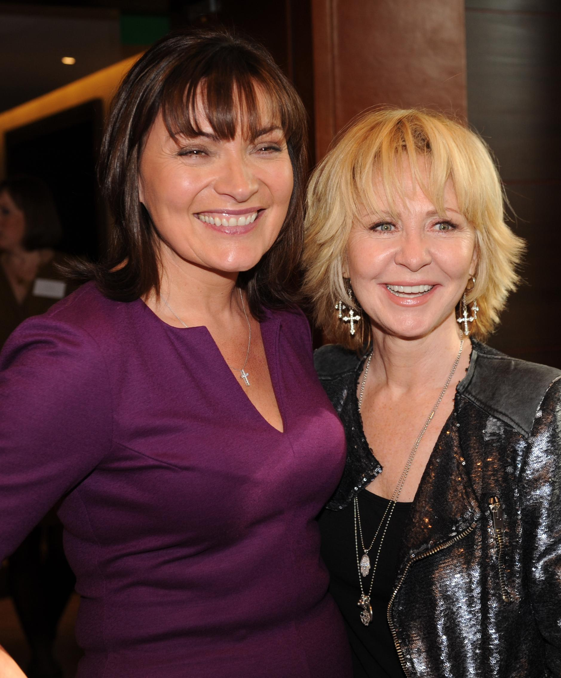 Lulu (right), winner of the 'Lifetime Achievement Award' at this year's Women of the Years awards with Lorraine Kelly at the ceremony in London today.