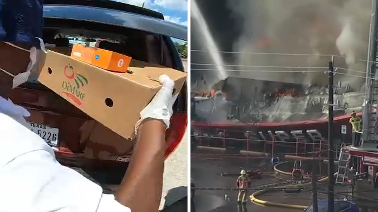 """Those fortunate to get food said it was a God-send, but the fire was a blow to a neighborhood considered a """"food desert."""""""