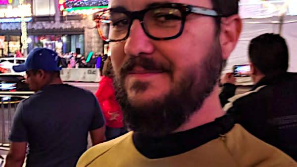 Wil Wheaton Wears 'Star Trek' Uniform To 'Star Wars' FOR REAL