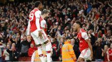 Aubameyang caps character win for 10-man Arsenal over Villa
