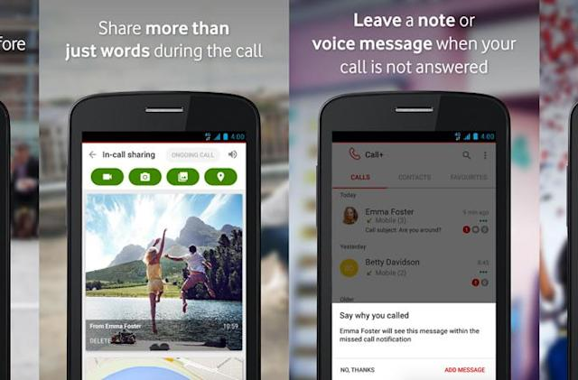 Vodafone's Call+ lets you share photos and maps while you chat