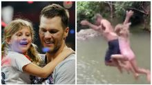 Tom Brady slammed for jumping off a cliff with 6-year-old daughter