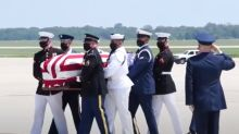 Flag-Draped Casket of John Lewis Arrives at Air Force Base Before Public Viewing